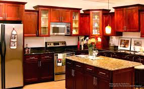 Maple Colored Kitchen Cabinets Cherry Wood Kitchen Cabinets Decor Gallery Design Ideas