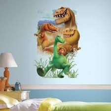 roommates 2 5 in x 27 in woodland fox and friends tree 80 piece 2 5 in w x 27 in h the good dinosaur gang