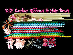 korker ribbon how to make korker ribbons and hair bows easy diy tutorial
