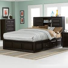 luxury king size bed with bookcase headboard 54 in easy diy