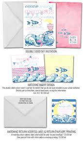 pink mermaid birthday invitation