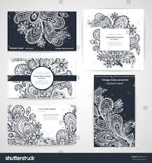 set banners floral indian ornaments can stock vector 259521710