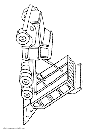 dump truck with raised body coloring page