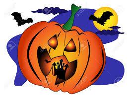 halloween scene with a big jack o u0027lantern pumpkin with a spooky