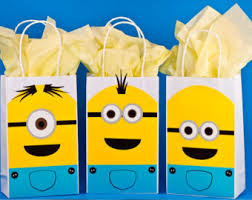 minion gift bags minions party etsy