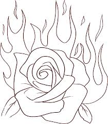 coloring pages roses and hearts