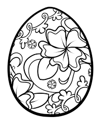 Coloring Eggs Floral Easter Egg Coloring Pages Batch Coloring