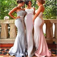 strapless mermaid bridesmaid dresses unique style different color