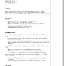 Sample Maintenance Resume by Projects Design Maintenance Resume Sample 11 Professional General