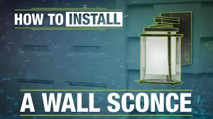 install outdoor garage lights how to install an outdoor wall sconce youtube