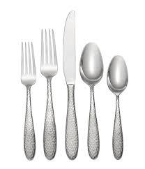 oneida reyna hammered 45 piece stainless steel flatware set dillards