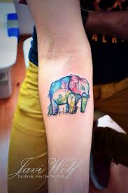 tribal galaxy elephant watercolor tattoo photo 4 2017 real