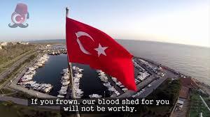Turkey National Flag Turkey National Anthem 2 Verses English Istiklal Marşı