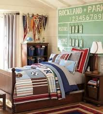Baseball Decorations For Bedroom by Baseball Bedroom For Boys With Wooden Furniture With Score Board