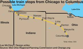 Chicago Trains Map by Plans For Train Connecting Columbus And Chicago Chug Forward The