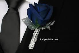blue boutonniere wedding flower boutonniere