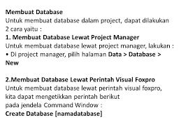 membuat database lewat cmd database pengertian database dalam visual foxpro berbeda dengan
