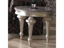 michael amini hollywood swank round side table darvin furniture