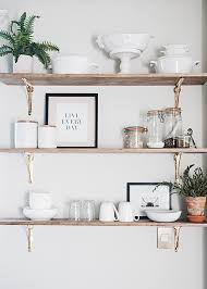 kitchen sheved how to style kitchen open shelving earnest home co