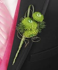 charleston florist go green prom boutonniere in charleston sc charleston florist inc