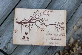 Rustic Wedding Albums Rustic Wedding Book Alternative Wooden Wedding Guest Book Love