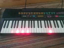 piano with light up keys casio ctk 520l vintage retro keyboard with light up keys 1996 in