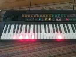 piano keyboard with light up keys casio ctk 520l vintage retro keyboard with light up keys 1996 in