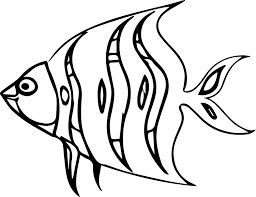 a cartoon fish coloring page sheet wecoloringpage