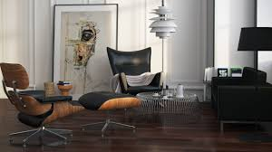 Lounge And Ottoman Furniture Charles Eames Lounge Chair And Ottoman With Eames Chair
