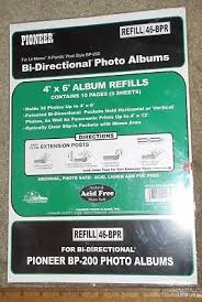 pioneer refill pages bulk pack pioneer refill str for st 400 photo album 400 pages