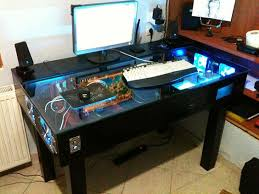 Gaming Desk Plans Best Computer Gaming Desk Top Plans In Custom Ideas 12