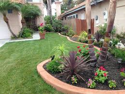 tropical landscape and yard with pathway u0026 exterior tile floors in