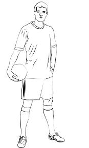 colorings soccer player sketch