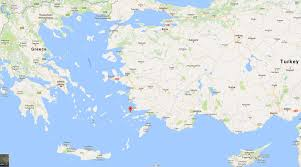 Map Greece by Where Is Kos Map Shows How Party Island Is On Fault Line Between