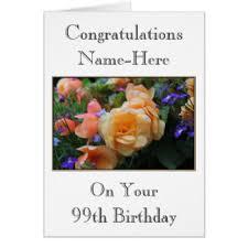 99th birthday cards u0026 invitations zazzle co uk