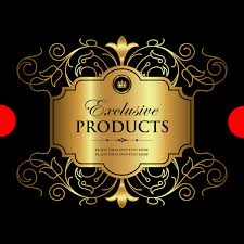 luxury ornamental gold label vector material 01 vector label
