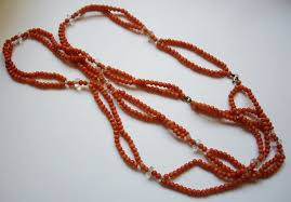 large red beads necklace images Jewels collecting dust beads JPG