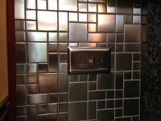 Brushed Stainless Steel Backsplash by 1sf Stainless Steel Metal Gold Silver Copper Mosaic Tile Kitchen
