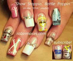 party nails liquor bottles designs 21st birthday nail art