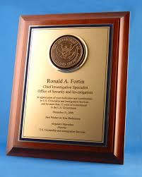 retirement plaque b a metal plaques