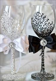 Charming How To Decorate Wine Glasses For Wedding 27 About Remodel