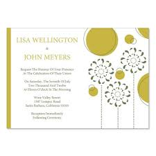 green wedding invitations yellow green wedding invitation templates do it