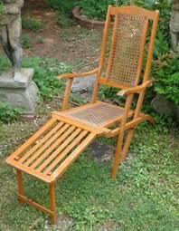 antique steamer cruise ship folding deck chair ebay