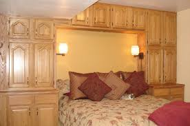 likable small bedroom interior design cream wooden cabinets beside