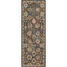 teal and brown area rug wayfair