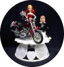 harley cake topper dress wedding cake topper w diecast harley davidson