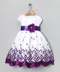 kid fashion white u0026 purple flower dress infant toddler u0026 girls