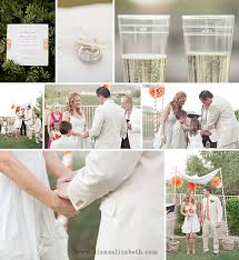 Country Backyard Wedding Jami U0026 Mike U0027s Orange U0026 Green Vintage Backyard Wedding At Ancala