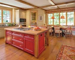 red kitchen furniture exciting cottage home rustic kitchen decor combine beautiful