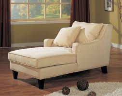 Armless Chaise Lounge Cream Microfiber Classic Chaise Lounge W Cappuccino Finish Base